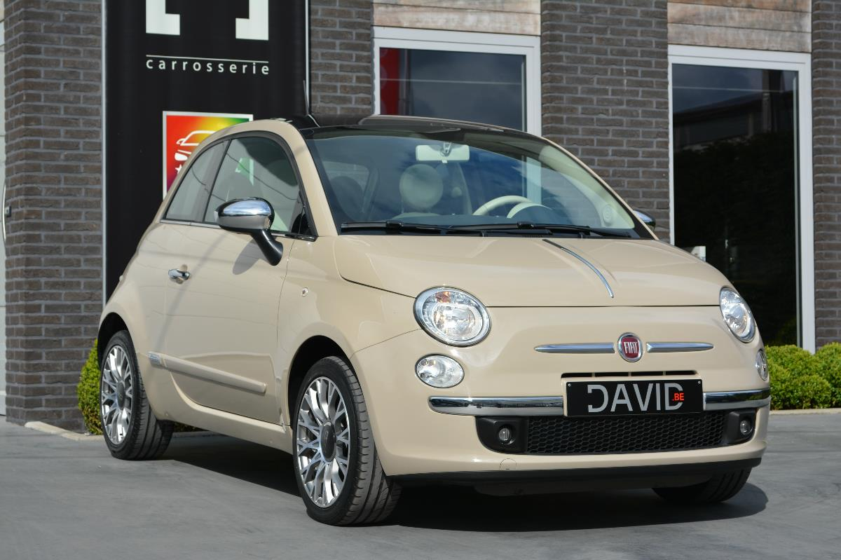fiat 500 1 2 lounge beige cappuccino moccalatte met chrome kit carstore. Black Bedroom Furniture Sets. Home Design Ideas